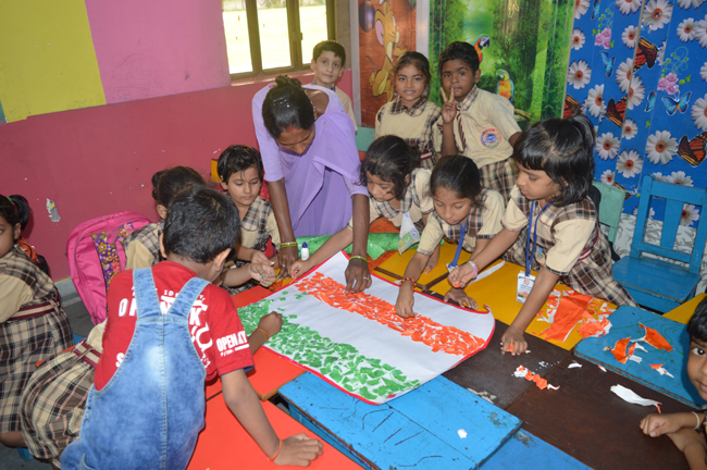 Rakhi Making & Flag Making Activity in KG